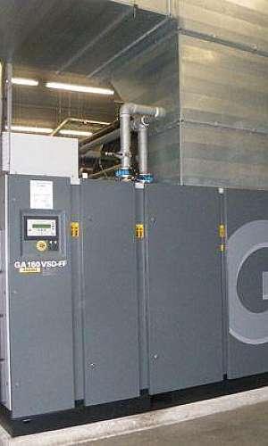 Aluguel de compressor de parafuso industrial