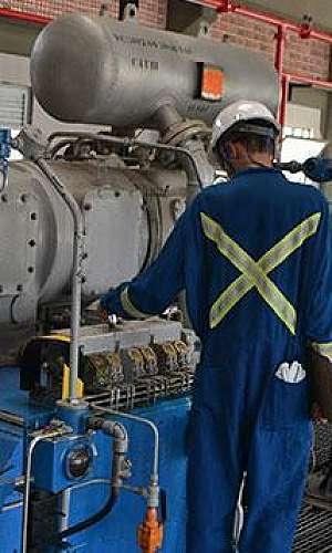Manutenção compressor industrial