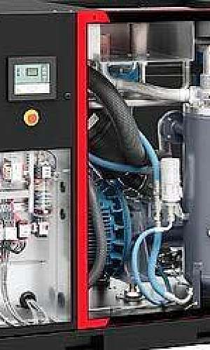Manutenção de compressor parafuso isento de óleo