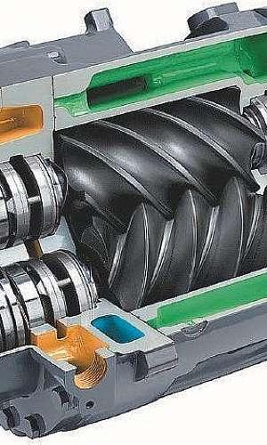 Manutenção de compressor parafuso