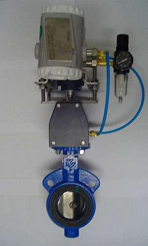Válvula de controle pneumática borboleta